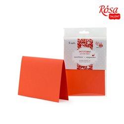 Набор заготовок для открыток 5шт, 16,8х12см, №13, оранжевой, 220г/м2, ROSA TALENT