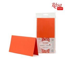 Набор заготовок для открыток 5 шт, 21х10,5см, №13, оранжевой, 220г/м2, ROSA TALENT
