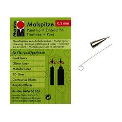 Наконечник металический для контуров Marabu f&f, d 0.3mm, 040600203