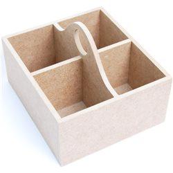 Шкатулка для чаю, МДФ, 4 осередки, 18 х16 х12,5 см, ROSA TALENT