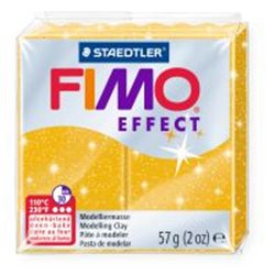 Пластика Effect, Золото з блискітками, 57г, Fimo