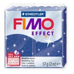 Пластика Effect, Синяя с блестками, 57г, Fimo
