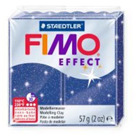 Фото Пластика Effect, Синя з блискітками, 57г, Fimo