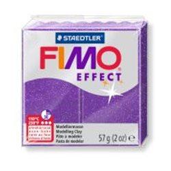 Пластика Effect, Фиолетовая с блестками, 57г, Fimo