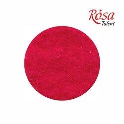 Фетр листовой (полиэстер), 21,5х28 см, Красный темный, 180г/м2, ROSA TALENT
