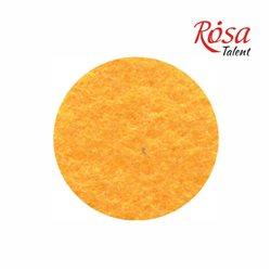 Фетр листовой (полиэстер), 21,5х28 см, Желтый темный, 180г/м2, ROSA TALENT