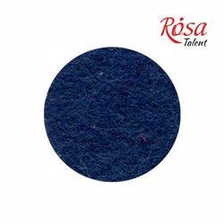 Фетр листовой (полиэстер), 21,5х28 см, Синий темный, 180г/м2, ROSA TALENT