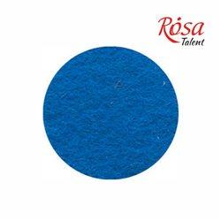 Фетр листовой (полиэстер), 21,5х28 см, Синий, 180г/м2, ROSA TALENT