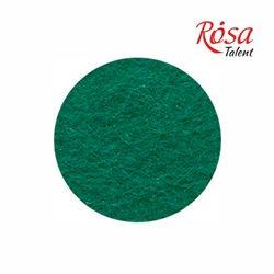 Фетр листовий (поліестер), 21,5х28 см, Зелений темний, 180г / м2, ROSA TALENT