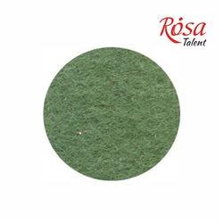 Фетр листовой (полиэстер), 21,5х28 см, Зеленый травяной, 180г/м2, ROSA TALENT
