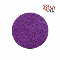 Фетр листовий (поліестер), 21,5х28 см, Фіолетовий темний, 180г / м2, ROSA TALENT
