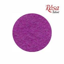 Фетр листовий (поліестер), 21,5х28 см, Фіолетовий світлий, 180г / м2, ROSA TALENT