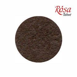 Фетр листовой (полиэстер), 21,5х28 см, Коричневый темный, 180г/м2, ROSA TALENT