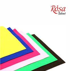 Фетр листовий (поліестер), 21,5х28 см, Білий, 180г / м2, ROSA TALENT