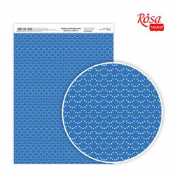 """Дизайнерський папір одностороння """"Синява неба"""" 4, 21х29,7 см, 250 г / м2, ROSA TALENT"""