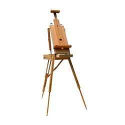 Этюдник с деревянными ножками и деревяным лотком. Тип французкий(72х114х180см) (коробка-45х20х62см) с палитрой и ремешком, бук,
