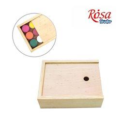 Пенал для гуаши деревянный, 17х13,3х5,3см, ROSA Studio