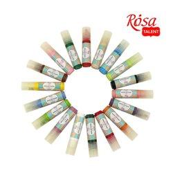 Краска акриловая, Ванильная, 20мл, для ткани, ROSA TALENT