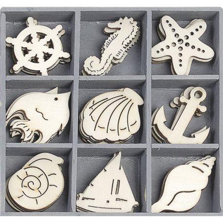 Фото Набор мини-заготовок, Морская прогулка, 10,5*10,5 см, 45 шт, Knorr Prandell