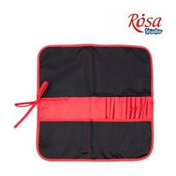Пенал для пензлів, тканину (37х37см), чорний + червоний ROSA Studio