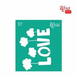 """Трафарет багаторазовий самоклеющийся, №37, 9х10см, Серія """"Love"""", ROSA TALENT"""