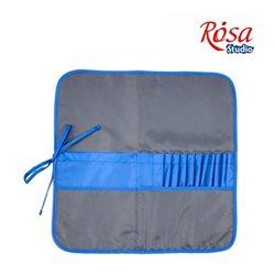 Пенал для кистей, ткань (37х37см), асфальт+синий ROSA Studio