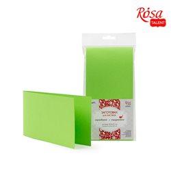 Набор заготовок для открыток 5шт,10,5х21см, №3, салатовый, 220г/м2, ROSA TALENT