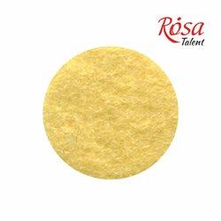 Фетр листовой (полиэстер), 21,5х28 см, Желтый пастельный, 180г/м2, ROSA TALENT