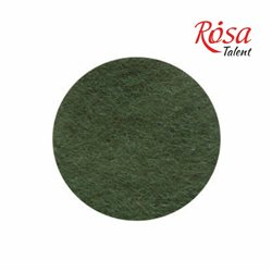 Фетр листовой (полиэстер), 21,5х28 см, Оливковый темный, 180г/м2, ROSA TALENT