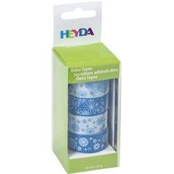 Набор бумажных скотчей «Голубые», 4шт, Heyda