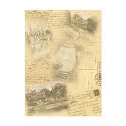Бумага для декупажа, Памятные путешествия, 30,8*44см, 45г/м2