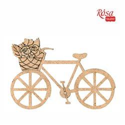 """Заготівля """"Велосипед"""", ДВП, 11х7,5 см, 5шт., ROSA TALENT"""