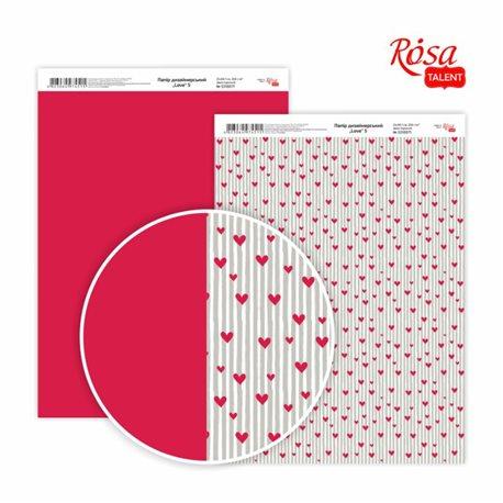 """Фото Дизайнерський папір двостороння """"Love"""" 5, 21х29,7 см, 250 г / м2, ROSA TALENT"""