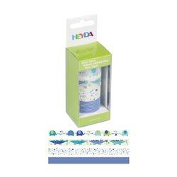 Набор бумажных скотчей «Детский голубой», 15мм*5м, 4шт, Heyda