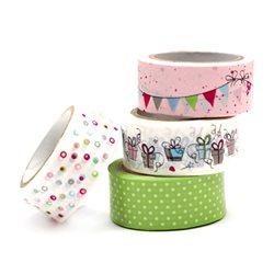Набор бумажных скотчей «Подарок», 4шт, Heyda