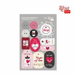 "Высечки для скрапбукинга, самоклеящиеся ""Love"" 2, картон, 12,8х20см, ROSA TALENT"