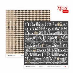 "Бумага для скрапбукинга ""Recipe book"" 3, двусторонняя, 30,48х30,48см, 200г/м2, ROSA TALENT"