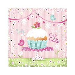 """Декупажные салфетки """"Lovely Cup Cake"""", 33*33 см, 17,5 г/м2, 20 шт, ti-flair"""