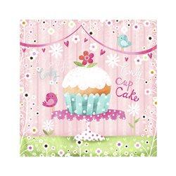 "Декупажние серветки ""Lovely Cup Cake"", 33 * 33 см, 17,5 г / м2, 20 шт, ti-flair"