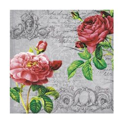 """Декупажние серветки """"Дві троянди"""", 33 * 33 см, 17,5 г / м2, 20 шт, ti-flair"""