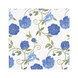 """Декупажные салфетки """"Цветочный орнамент"""", голубые, 33*33 см, 17,5 г/м2, 20 шт, ti-flair"""