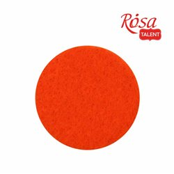 Фетр листовой (полиэстер), 21х29,7 см, Оранжевый, мягкий, 180г/м2, ROSA TALENT