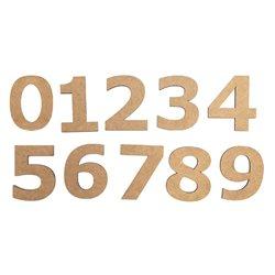 """Набір заготовок Цифра """"9"""", МДФ, висота 3 см, 10шт, ROSA TALENT"""