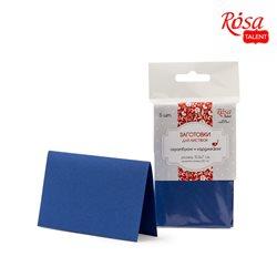 Набор заготовок для открыток 5шт, 10,3х7см, №4, тёмно-синий, 220г/м2, ROSA TALENT