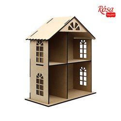 Кукольный домик двухэтажный, МДФ, 49х41х20см, ROSA TALENT