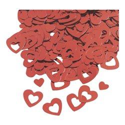 Набор декоративных сердечек с отверстием, Красный, 0,5-1см, 20г, Knorr Prandell