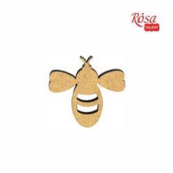 """Мини-заготовка """"Пчела"""", МДФ, 4,0х4,0 см, 10 шт, ROSA TALENT"""