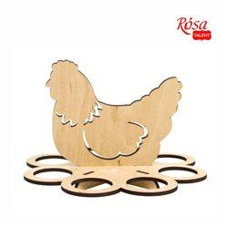 """Подставка для яиц """"Курочка"""" 1, фанера, 20х20х14см, ROSA TALENT"""