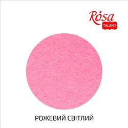 Фетр листовой (полиэстер), 29,7х42 см, Розовой светлый, 180г/м2, ROSA TALENT