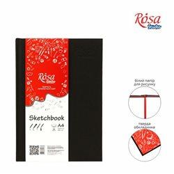 Блокнот A4 (21*29,7см), 100г/м, 96л., черный, ROSA Studio